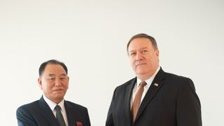 North Korea Vice-Chairman Kim Yong Chol meets with United States Secretary of State Mike Pompeo