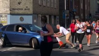 Plymouth marathon row