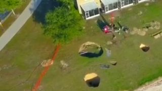 Sinkholes draw closer to houses in Ocala, Florida