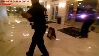 Miami-Dade police on Monday released body-camera footage showing the dramatic firefight with an intruder at the Trump National Doral hotel