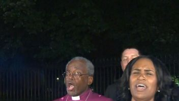 Bishop Michael Curry at the White House protest