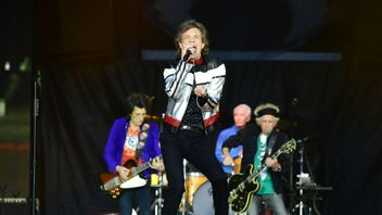The Rolling Stones performing at the London Stadium