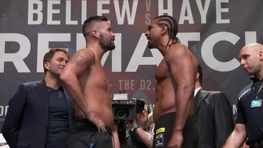 Bellew and Haye weigh-in