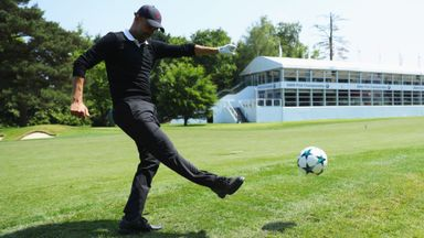 Pep & co play Wentworth footgolf!