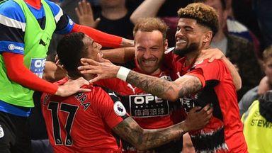 Huddersfield players celebrate in nightclub