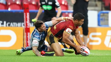 Huddersfield  Giants 6-20 Catalans Dragons: Challenge Cup semi secured by Dragons