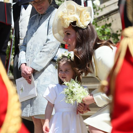 Royal couple's young entourage steals the show
