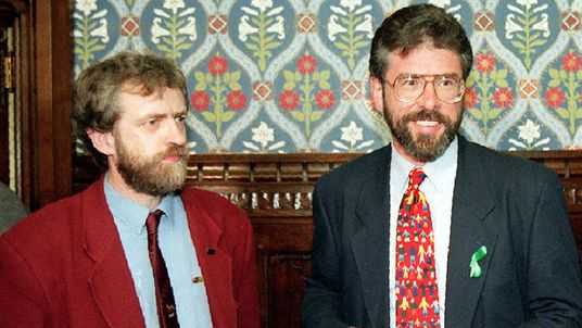 Jermey Corbyn and Gerry Adams in 1995