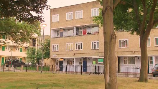 The estate in north London where 95=year-old was arrested on suspicion of murder.