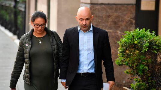 Marcio and Andreia Gomes arrive at the inquiry to remember stillborn Logan