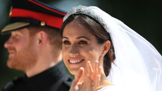 Prince Harry and Meghan Markle after the ceremony