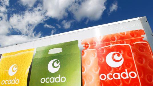 An Ocado truck returns to the Ocado depot in Hatfield, southern England July 21, 2010