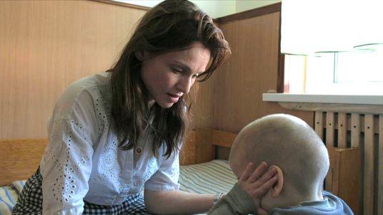 Sophie Ellis Bextor visits an orphanage in Ukraine