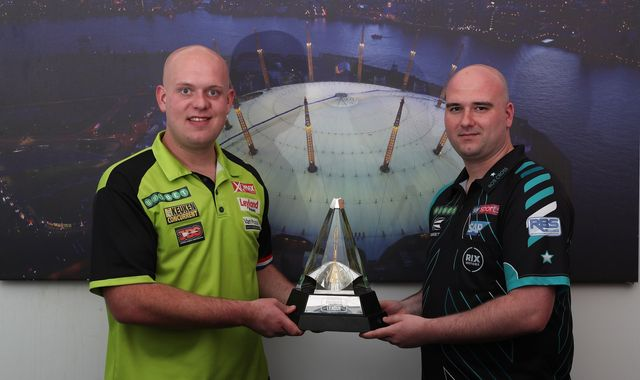 Michael van Gerwen and Rob Cross battle for Premier League top spot in Cardiff