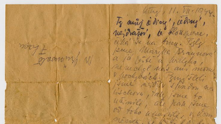The original letter, now on display to the world. Pic: United States National Holocaust Museum
