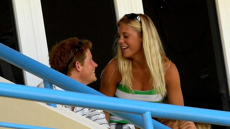 Harry and Chelsy at an England v Australia cricket match in 2007