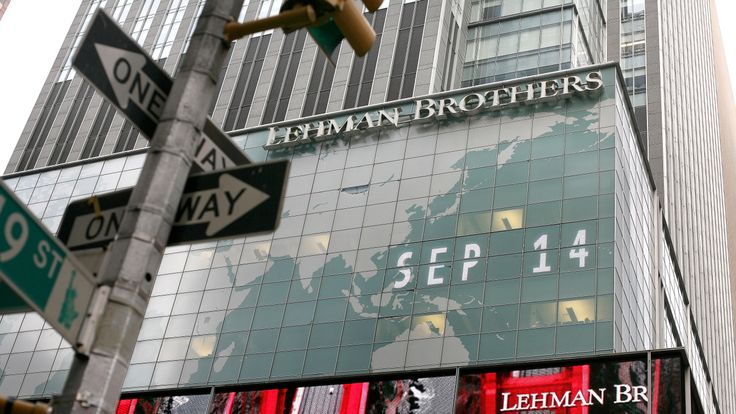 The headquarters of the Lehman Brothers in New York City