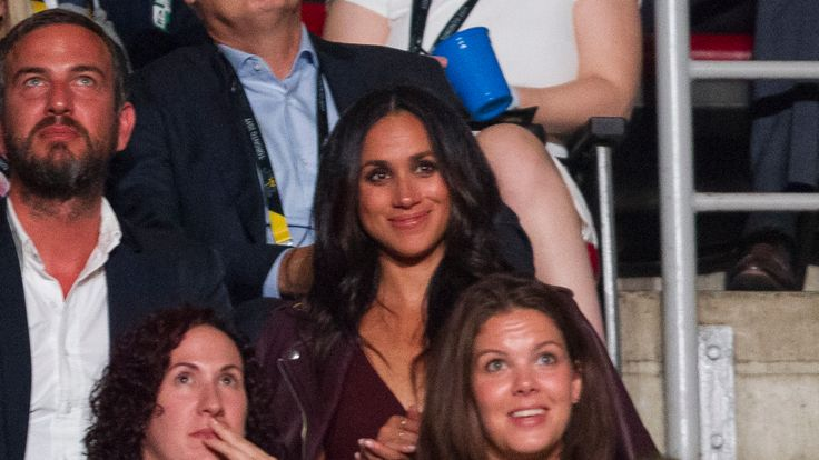 Meghan was in the audience of the opening of the Toronto Invictus Games, watching Harry, before their relationship was confirmed