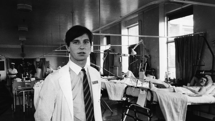 A junior doctor on a ward at Luton and Dunstable hospital in 1972