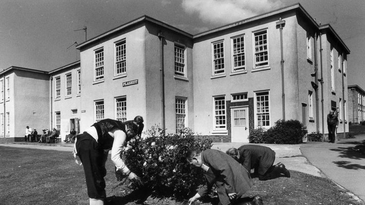 Gardening therapy for high risk mental patients of Runwell hospital in Essex in the 1970s