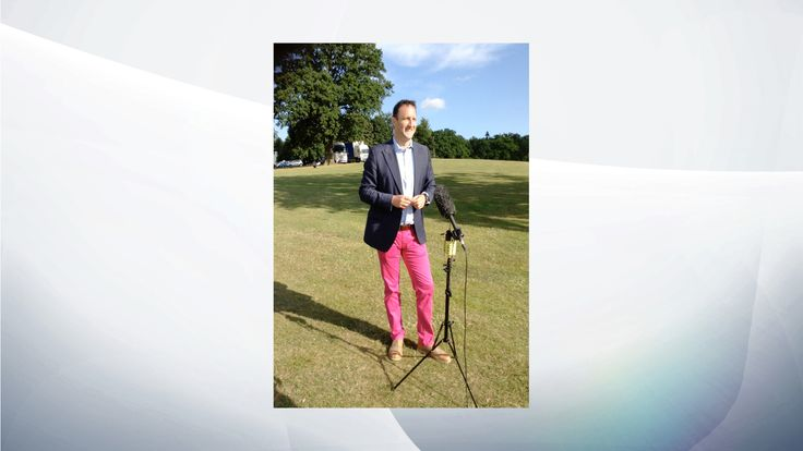 Paul Harrison's definitely not pink trousers