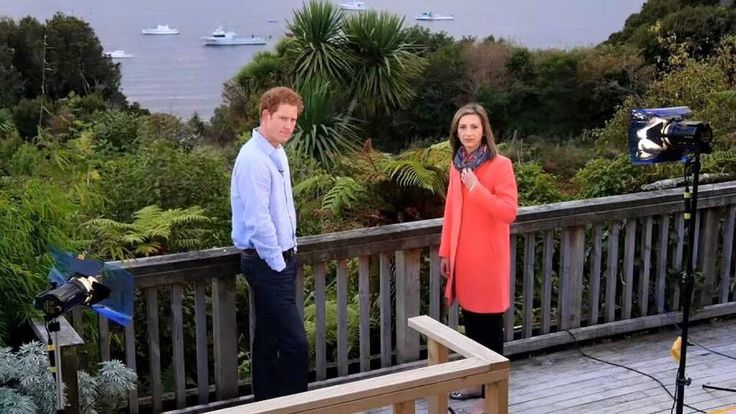 Rhiannon Mills prepares to interview Prince Harry in New Zealand
