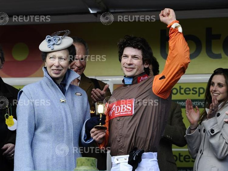 Jockey Sam Waley-Cohen won the Gold Cup riding Long Run