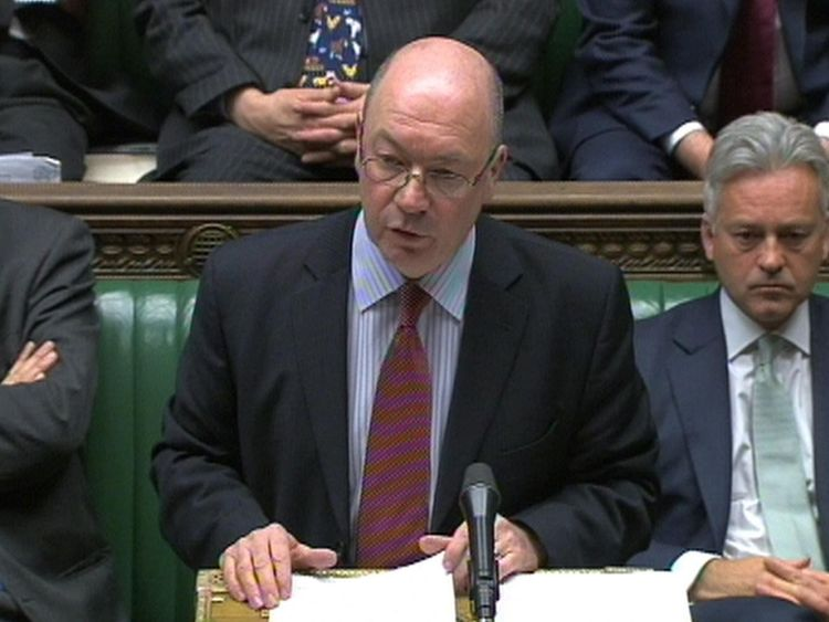 Foreign Office minister Alistair Burt makes a statement in the House of Commons London on the latest situation in Egypt