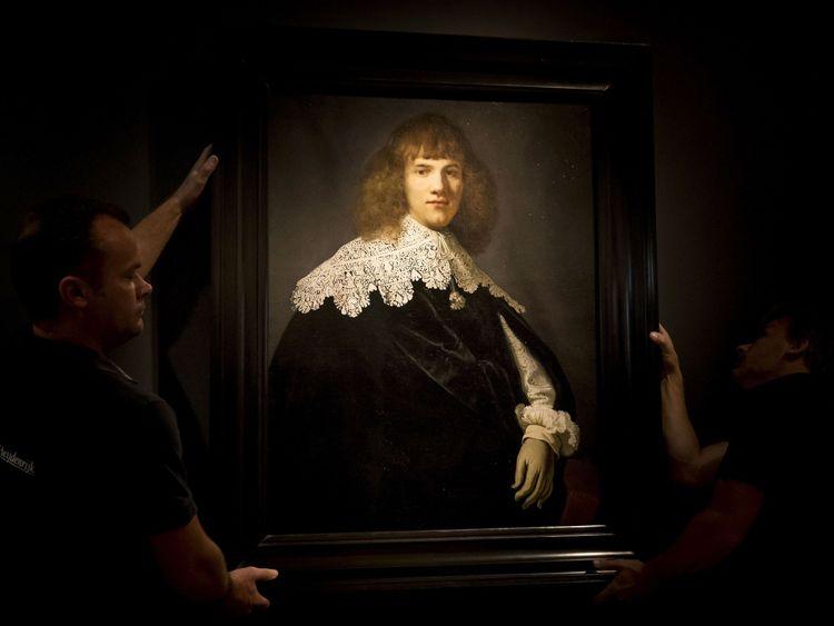 'Portrait of a Young Gentleman' by Rembrandt van Rijn in The Hermitage Museum, Amsterdam