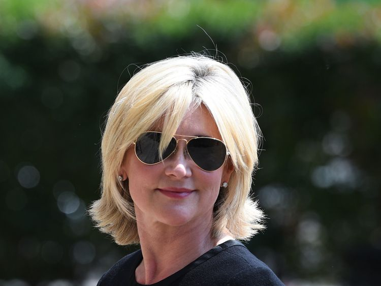 Anthea Turner arrives at Old Church