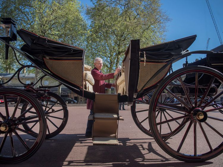 The royal carriage procession is your chance to get involved in the wedding
