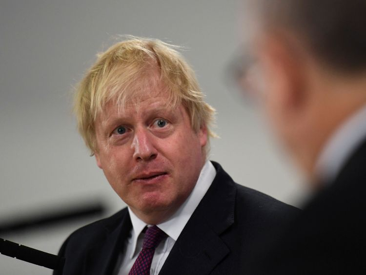 Boris Johnson has welcomed the idea of a 'Brexit plane'
