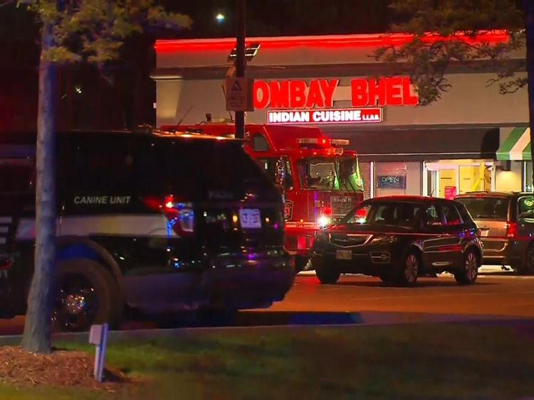 The blast was at the Bombay Bhel restaurant in Toronto