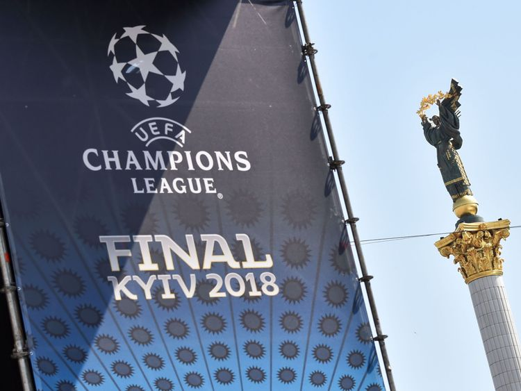 The Champions League final is taking place in Kiev on Saturday
