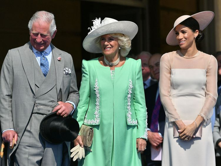 Charles, Camilla and the Duchess of Sussex