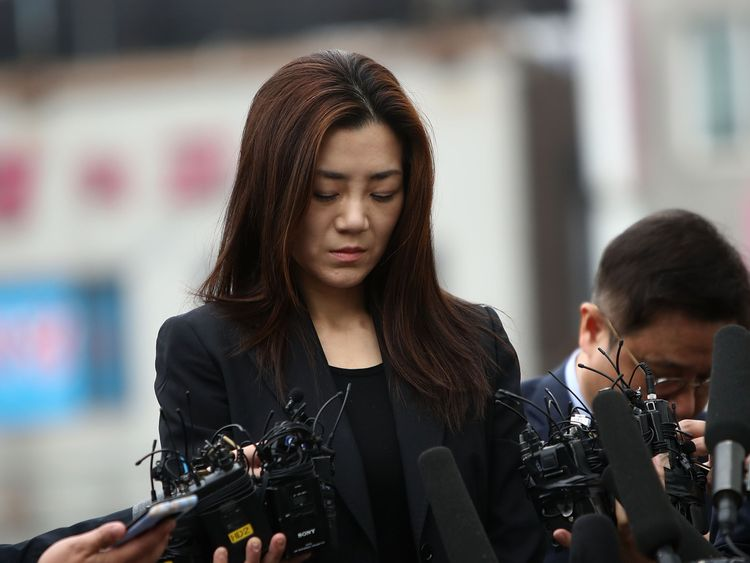 on May 1, 2018 in Seoul, South Korea. Police said that they will question Cho Hyun-min, Korean Air senior executive and younger daughter of the airline's chairman Cho Yang-ho as a suspect over allegations on assault and obstruction of business against airline's ad firm manager.