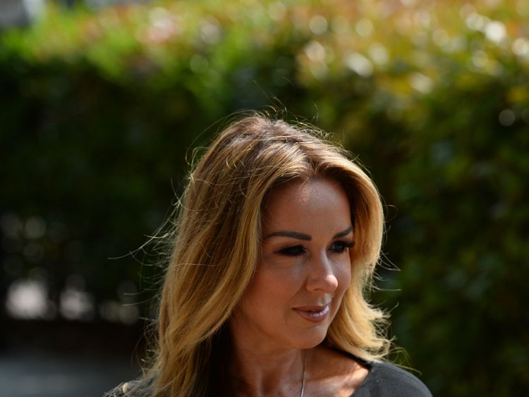 Claire Sweeney attended the funeral