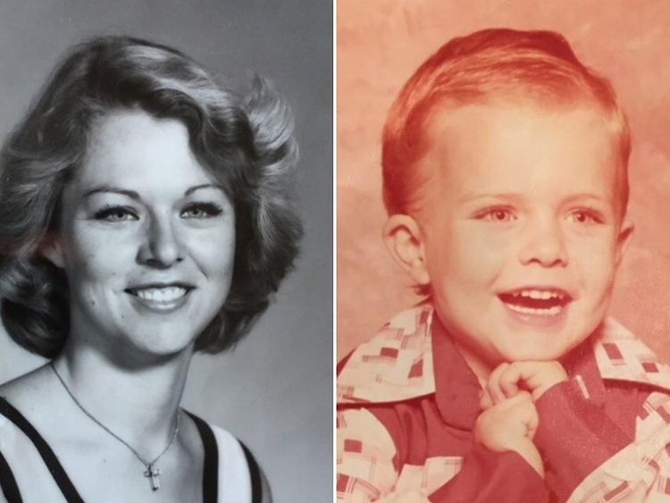 Rhonda Wicht, 24, and Donald, four, were strangled to death in their home in 1978. Pic: Simi Valley Police