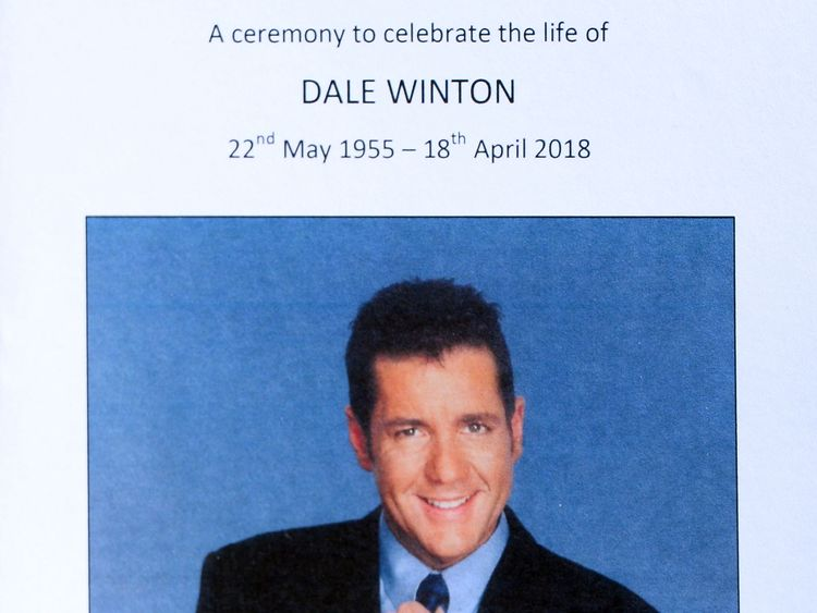 TV host Dale Winton died of natural causes