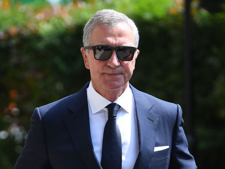 Graeme Souness arrives at Old Church for the funeral