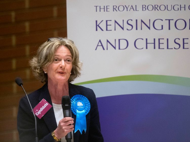 Leader of Kensington and Chelsea council Elizabeth Campbell after the Conservatives maintained control of the council