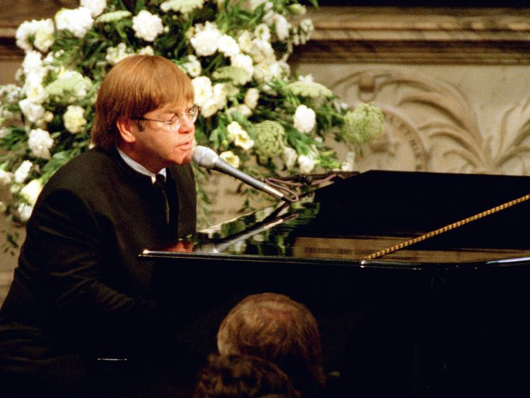Sir Elton John played and sang Candle in the Wind at Diana's funeral in 1997