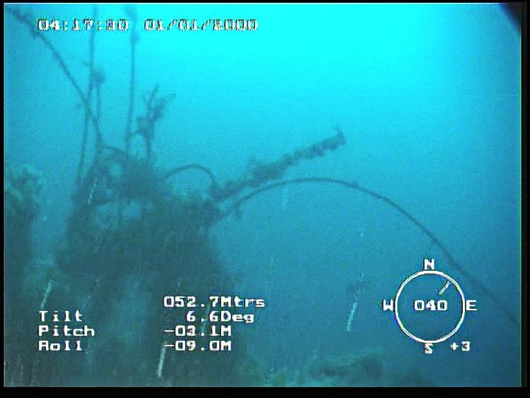 Images from the submersible Gavia show the wreck of the Empire Wold