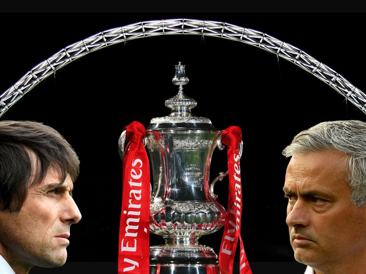 The FA Cup final is between Chelsea and Manchester United
