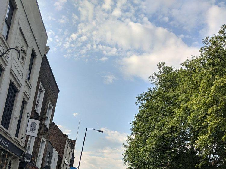 Scene near fatal stabbing in Islington, north London. Twitter pic: sam_linnett