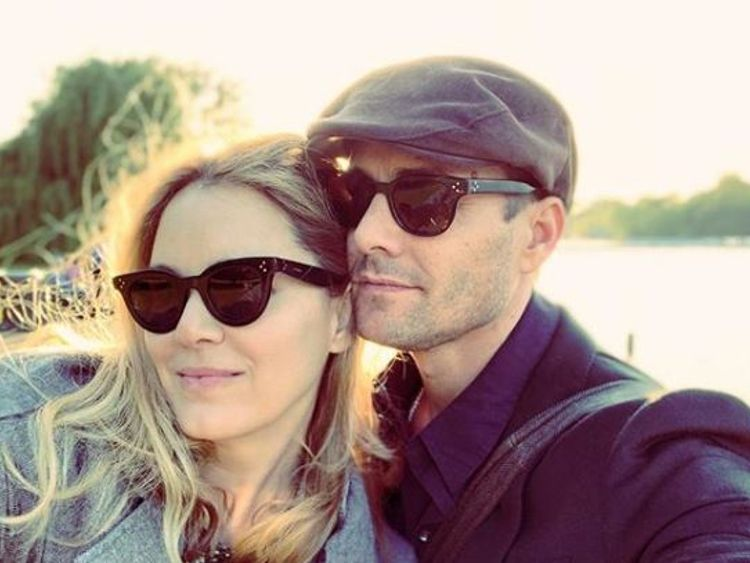 Gabriel Macht posted this photo with his wife in Hyde Park. Pic: Gabriel Macht/Instagram