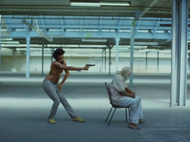 Gambino adopts what could be portrayed as a Jim Crow stance