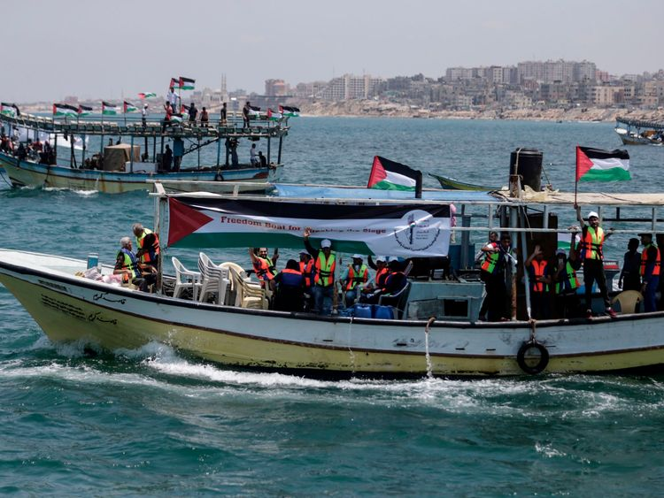 Boats carrying patients and students have set off to try to break Israel's blockade
