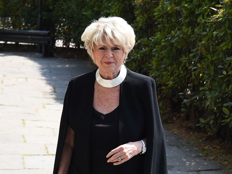Gloria Hunniford at the Supermarket Sweep's star's funeral