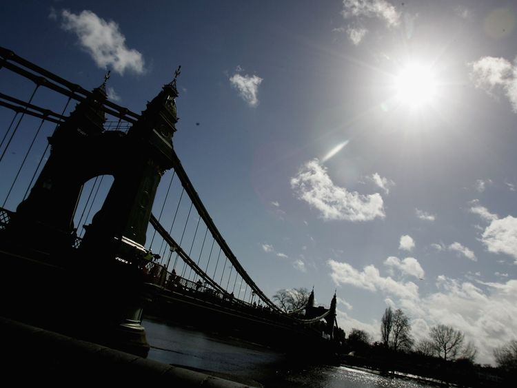 The record number was found in Barnes by the Hammersmith Bridge